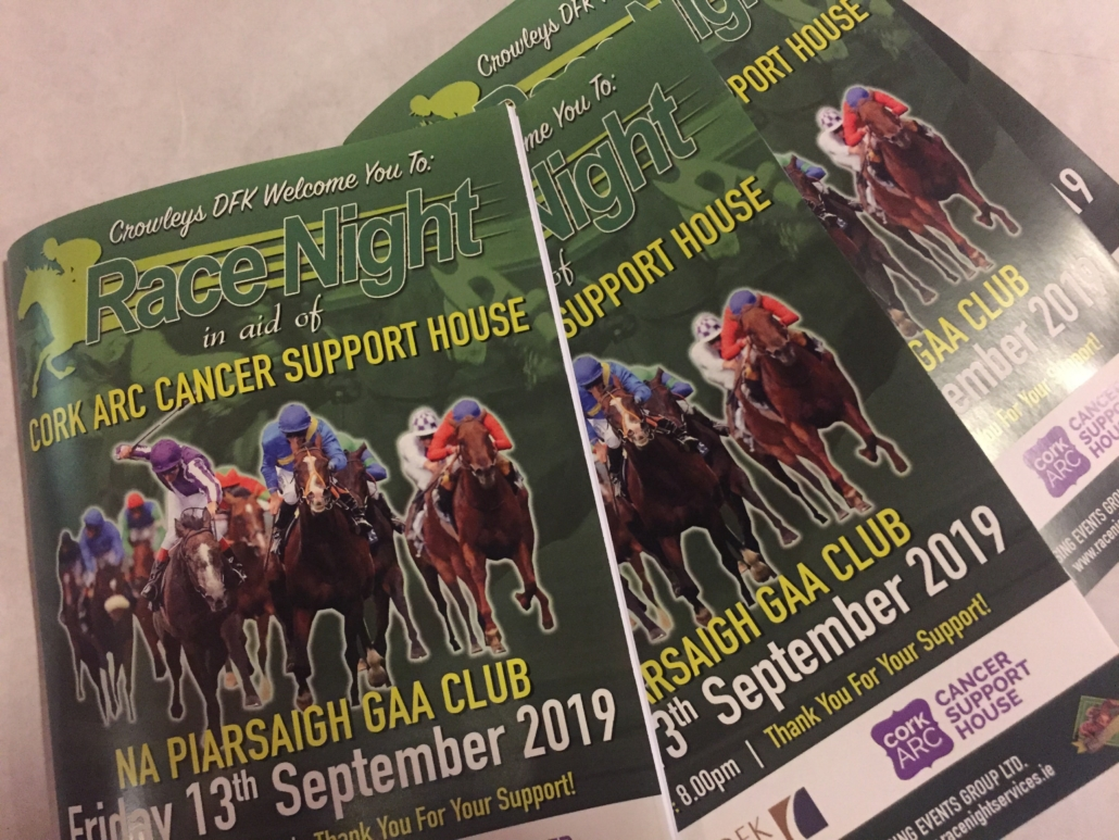 Virtual Race Night in Aid of Cork ARC Cancer Support Centre