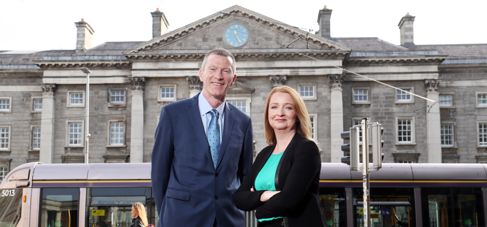 Announcing the merger of accountancy firms Crowleys DFK and Anne Brady McQuillans DFK are (pictured l-r) James O'Connor (Managing Partner, Crowleys DFK) and Natalie Kelly (Partner, Anne Brady McQuillans DFK).