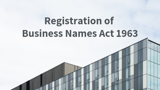 Registration of Business Names Act 1963